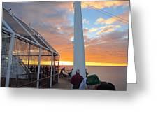 Caribbean Cruise - On Board Ship - 1212165 Greeting Card