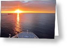 Caribbean Cruise - On Board Ship - 1212185 Greeting Card