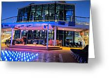 Caribbean Cruise - On Board Ship - 121238 Greeting Card