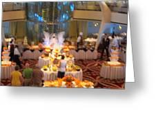 Caribbean Cruise - On Board Ship - 121273 Greeting Card