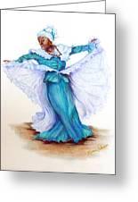 Caribbean Folk Dancer Greeting Card