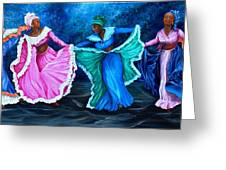 Caribbean Folk Dancers Greeting Card