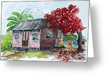 Caribbean House Greeting Card