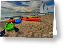 Caribbean Kayaks Greeting Card