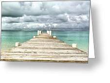 Caribbean Landscape - Isolated Jetty - Bahamas Greeting Card