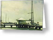 Caribbean Marina-3 Greeting Card