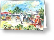 Caribbean Market Greeting Card