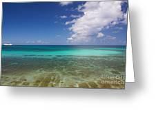 Caribbean Ocean Panorama Greeting Card