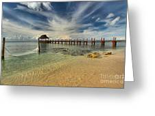 Caribbean Ocean Pier Greeting Card