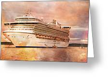 Caribbean Princess In A Different Light Greeting Card by Betsy Knapp
