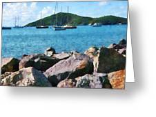 Caribbean - Rocky Shore St. Thomas Greeting Card