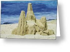 Caribbean Sand Castle  Greeting Card