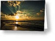 Caribbean Sunrise Greeting Card by Stuart Deacon