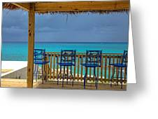 Caribbean View-island Grill Grand Cayman Greeting Card