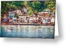 Caribbean Village Greeting Card