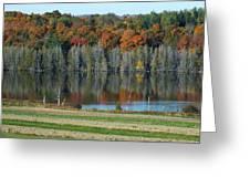 Caribou Lake Reflected Greeting Card