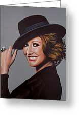 Carice Van Houten Painting Greeting Card