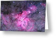 Carina Nebula Panorama Greeting Card