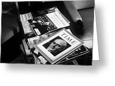 Carl Sandburg's Magazines  Greeting Card