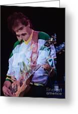 Carlos Santana At The Berkeley Greek Theater-september 13th 1980 Greeting Card