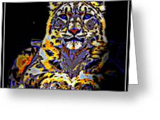 Carlos The Snow Leopard Greeting Card