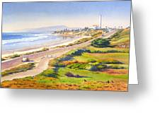 Carlsbad Rt 101 Greeting Card by Mary Helmreich