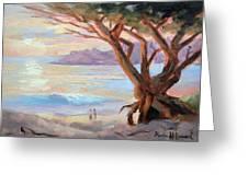 Carmel Beach Winter Sunset Greeting Card