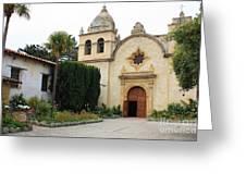 Carmel Mission Church Greeting Card