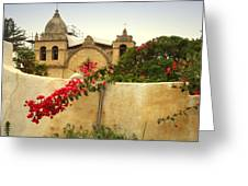 Carmel Mission Getting A Facelift Greeting Card