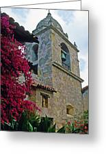 Carmel Mission Tower Greeting Card