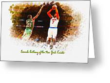 Carmelo Anthony Of The New York Knicks Greeting Card