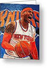 Carmelo Anthony Greeting Card by Taylan Apukovska