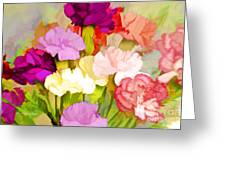 Carnation Bouquet Greeting Card