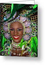 Carnaval Beauty Greeting Card