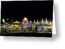 Carnival Life At Night 01 Greeting Card
