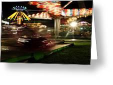 Carnival Ride 1  Greeting Card
