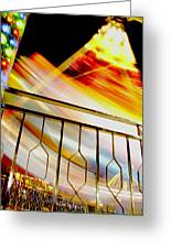 Carnival Ride Fence Greeting Card