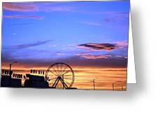 Carnival Sunset Greeting Card