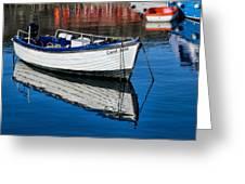 Carol June At Lyme Regis Harbour Greeting Card