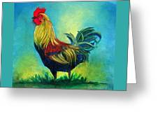 Caroles' Rooster Greeting Card