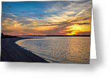 Carolina Beach River Sunset II Greeting Card