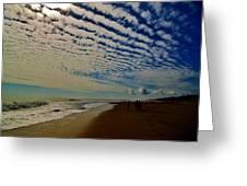 Carolina Blue Sky And Pier 10 10/17 Greeting Card