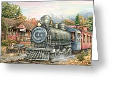 Carolina Morning Train Greeting Card