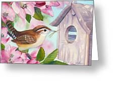 Carolina Wren In Springtime Greeting Card