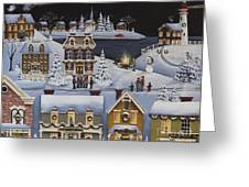 Caroling In Winterberry Greeting Card
