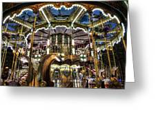 Carousel At Hotel Deville Greeting Card