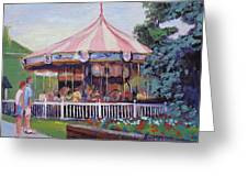 Carousel At Put-in-bay Greeting Card
