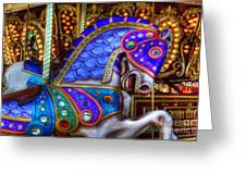 Carousel Beauty Prancing Greeting Card