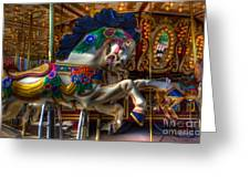 Carousel Beauty Ready To Roll Greeting Card