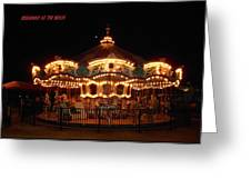 Carousel - Broadway At The Beach - Myrtle Beach Sc Greeting Card